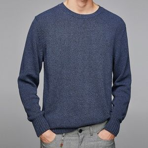 ZARA MAN NWT Mixed knit Sweater Light Weight Sz L